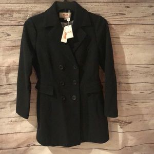 Jackets & Blazers - NWT Women's charcoal wool coat size small
